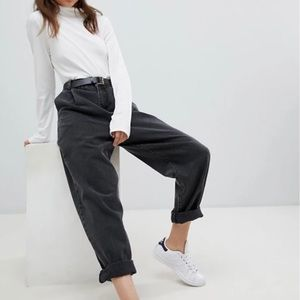 Tapered Boyfriend Jeans With Curved Seams